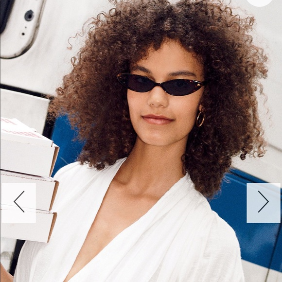 FREE PEOPLE Too cool slim cat eye sunglasses